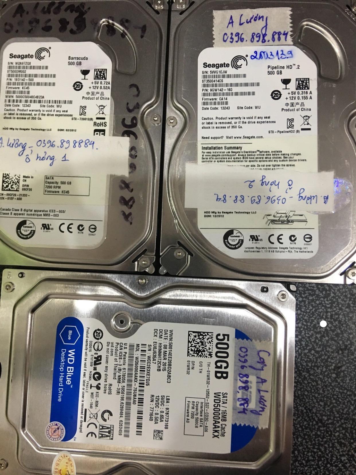 Phục hồi dữ liệu ổ cứng Seagate 500GB lỗi cơ 20/05/2020 - cuumaytinh