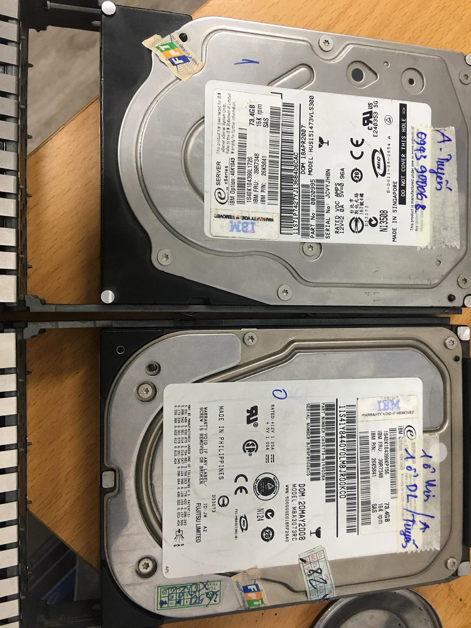 Cứu dữ liệu máy chủ IBM với 2HDDx73GB mất cấu hình RAID 20/05/2020 - cuumaytinh
