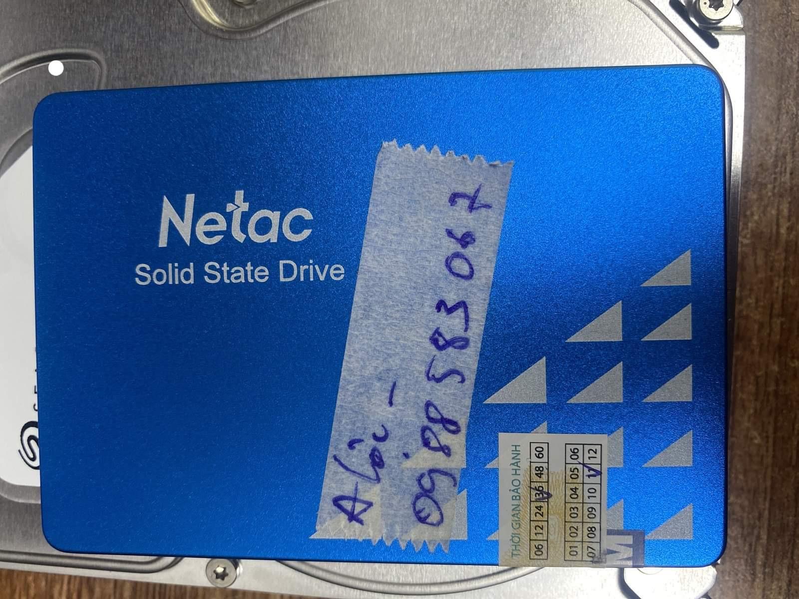 Cứu dữ liệu ổ cứng SSD Netac 120GB không nhận 12/06/2020 - cuumaytinh