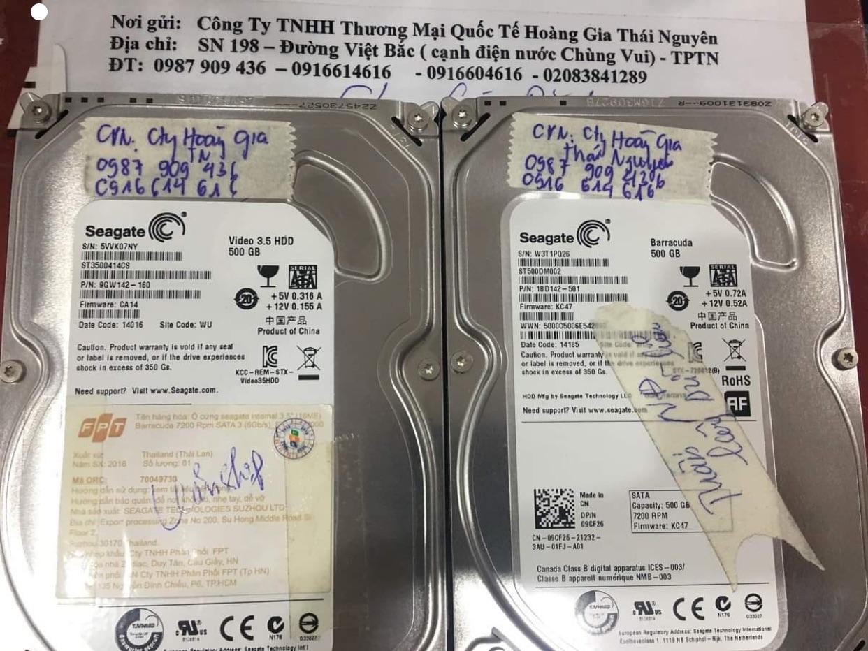 Cứu dữ liệu ổ cứng Seagate 500GB lỗi cơ tại Thái Nguyên 11/06/2020 - cuumaytinh
