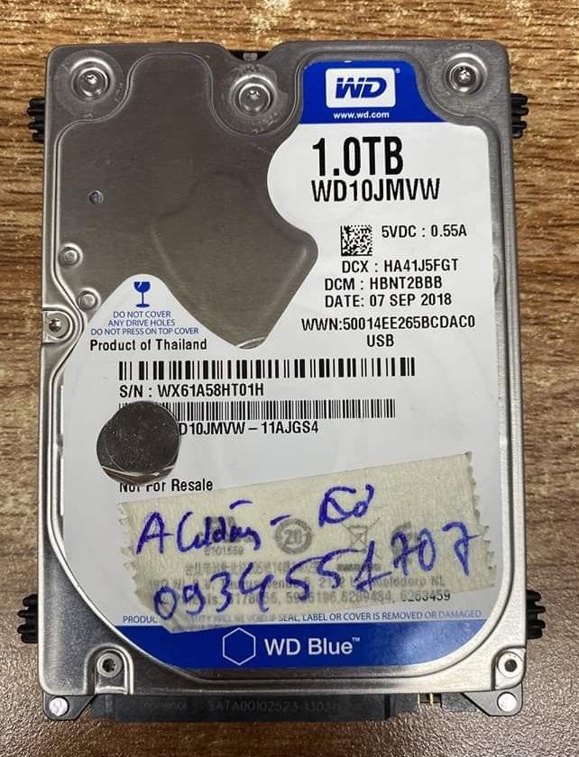 Cứu dữ liệu ổ cứng Western 1TB lỗi đầu đọc 24/06/2020 - cuumaytinh