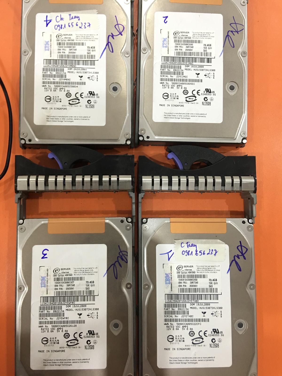 Khôi phục dữ liệu máy chủ IBM với 4HDDx73GB lỗi 2HDD-  cuumaytinh