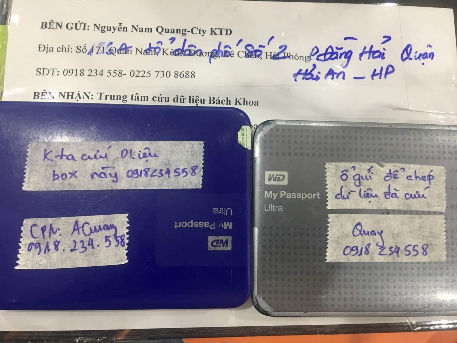 Lấy dữ liệu ổ cứng Western 1TB lỗi cơ tại Hải Dương 23/06/2020 - cuumaytinh