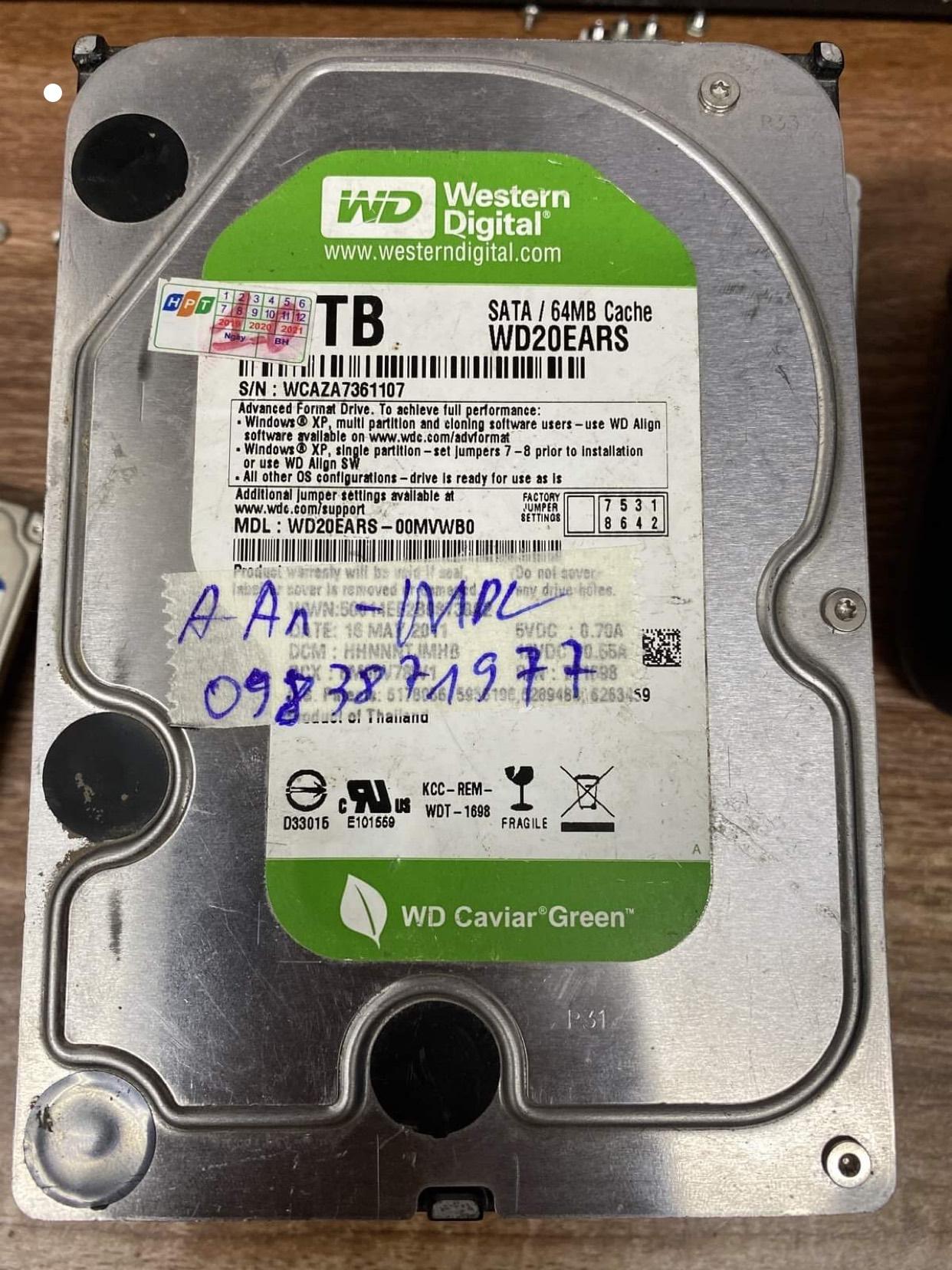 Phục hồi dữ liệu ổ cứng Western 10TB mất dữ liệu 23/06/2020 - cuumaytinh