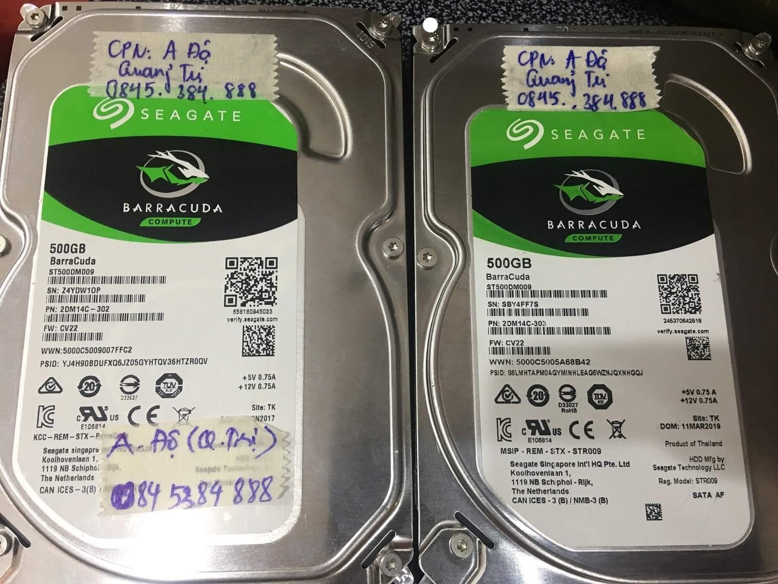 Cứu dữ liệu ổ cứng Seagate 500GB lỗi đầu đọc tại Quảng Trị 06/07/2020 - cuumaytinh
