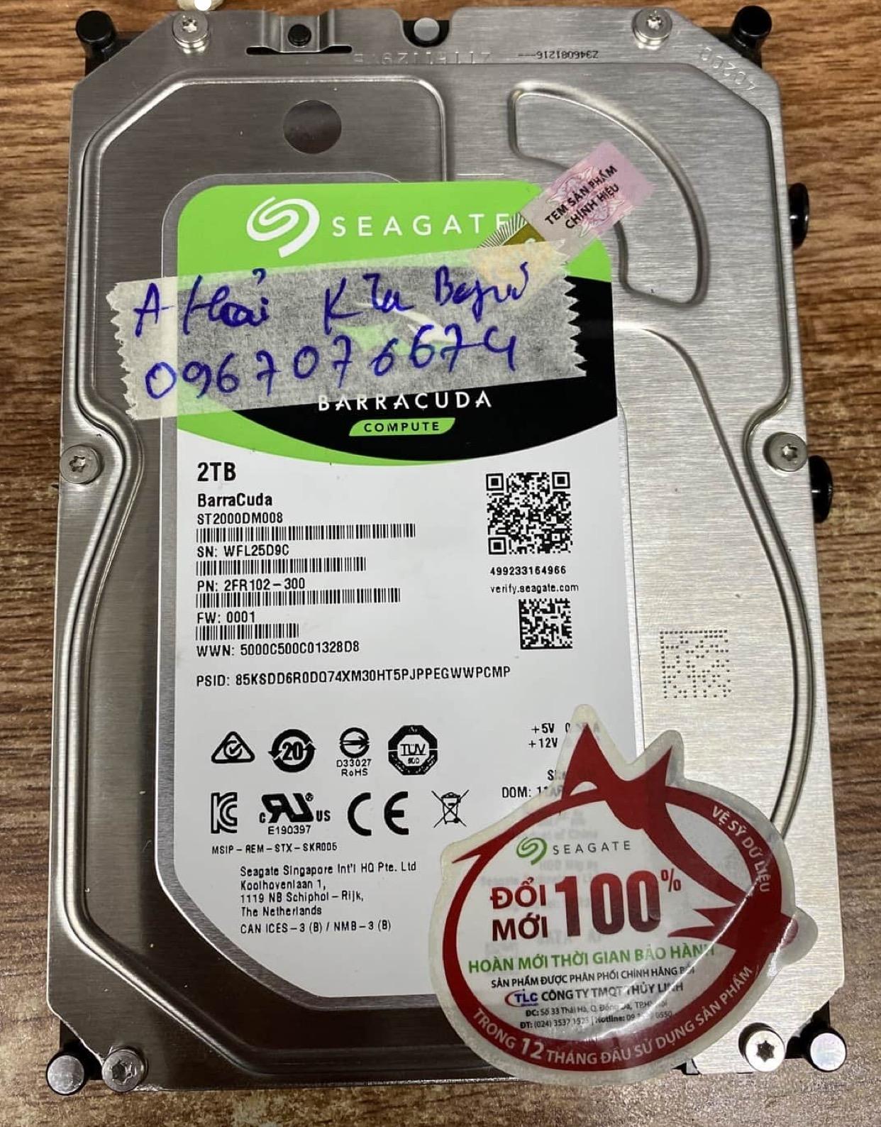 Cứu dữ liệu ổ cứng Seagate 2TB bad 16/07/2020 - cuumaytinh