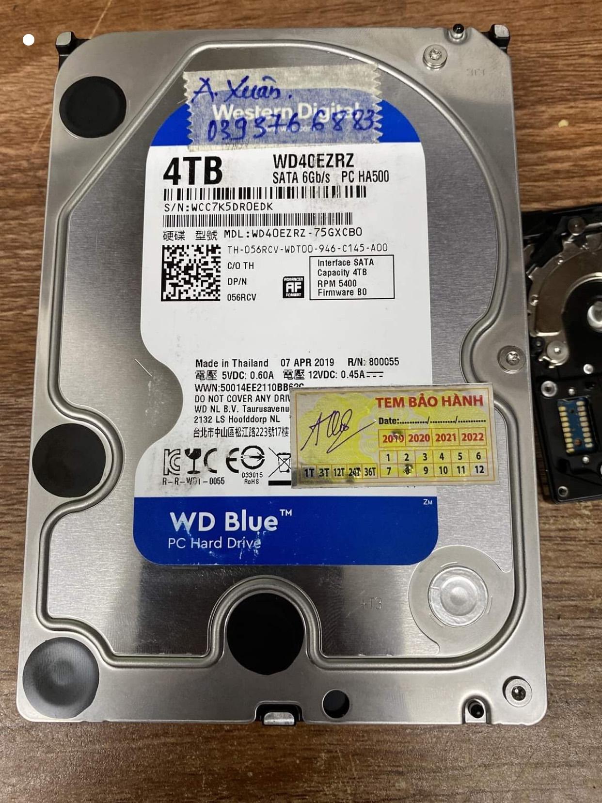 Lấy dữ liệu ổ cứng Western 4TB lỗi định dạng 01/07/2020 - cuumaytinh