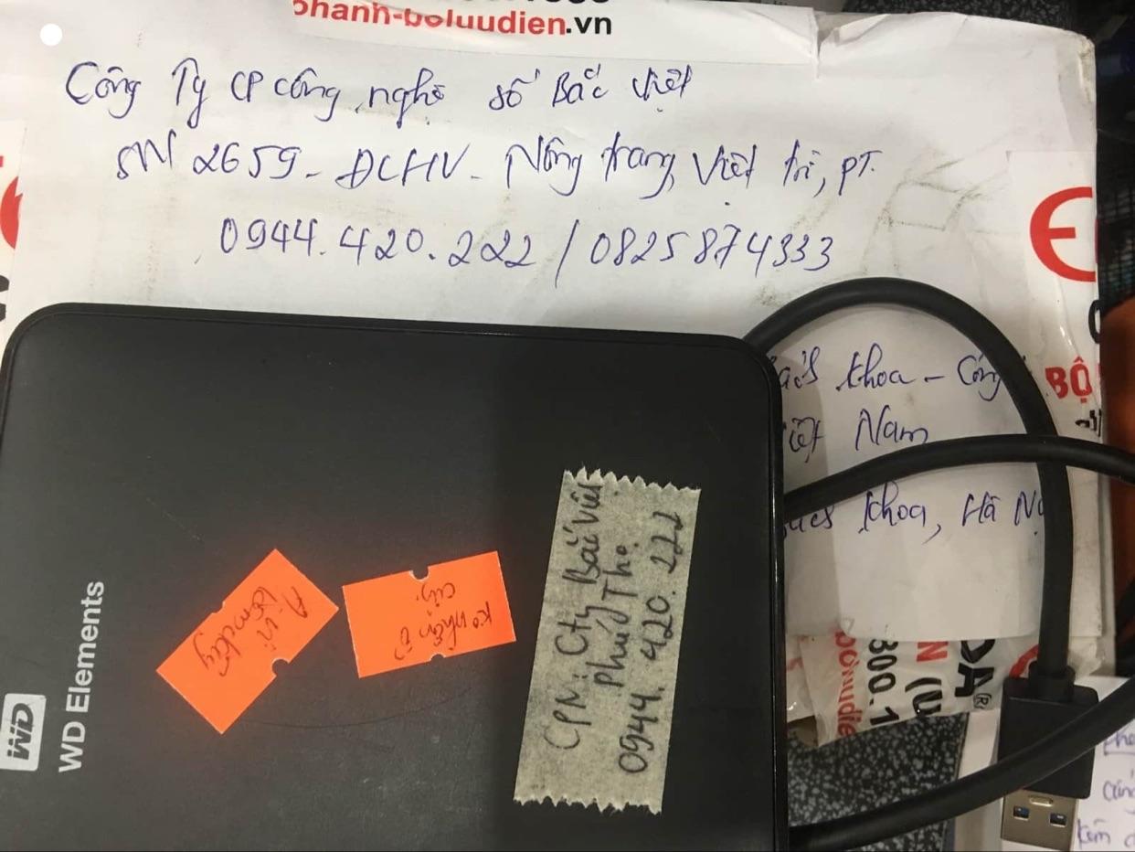 Phục dữ liệu ổ cứng Western 1TB lỗi cơ tại Phú Thọ 21/07/2020 - cuumaytinh