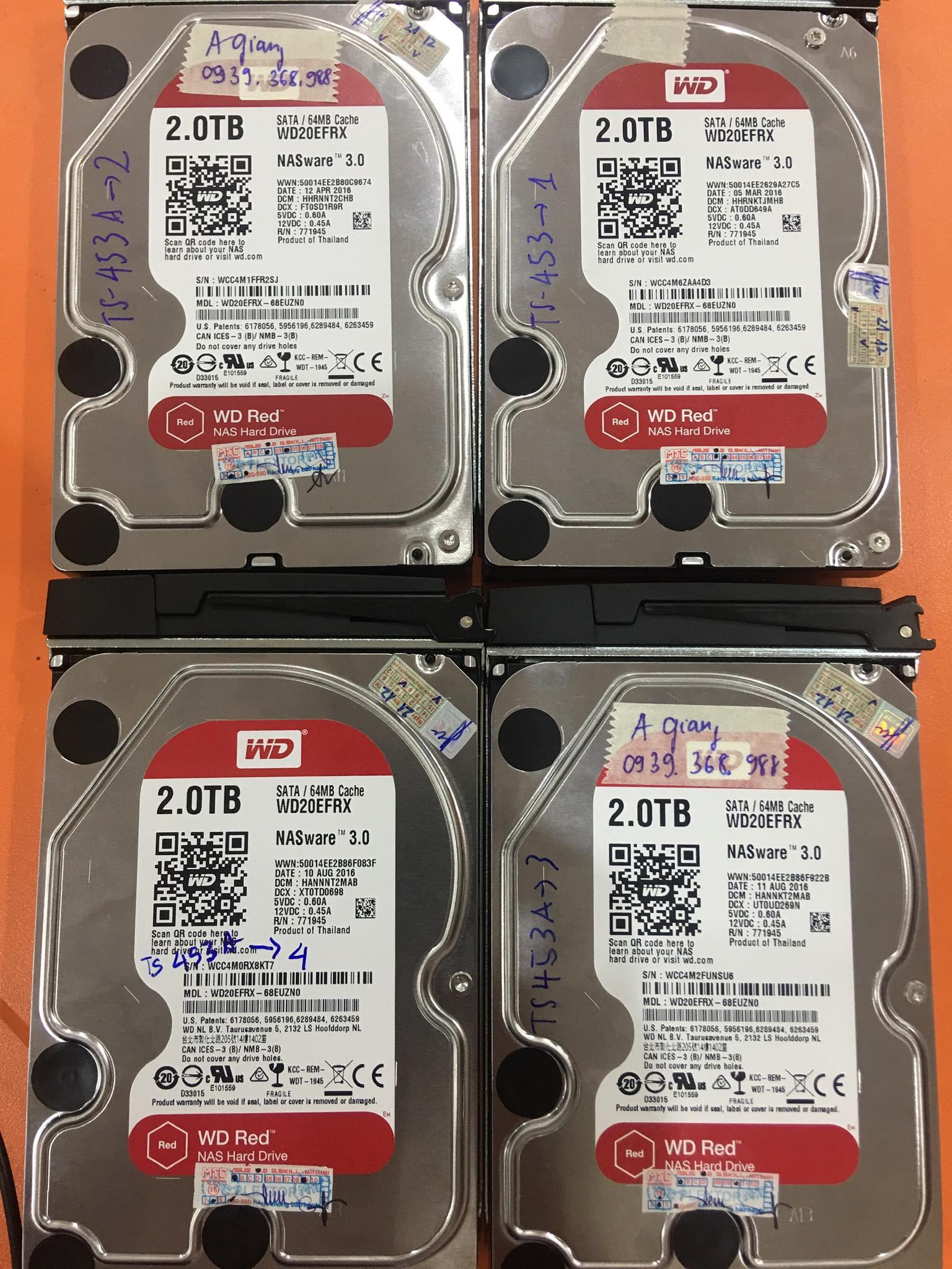 Cứu dữ liệu máy chủ Qnap với 4HDDx2TB lỗi 2HDD 02/07/2020 - cuumaytinh