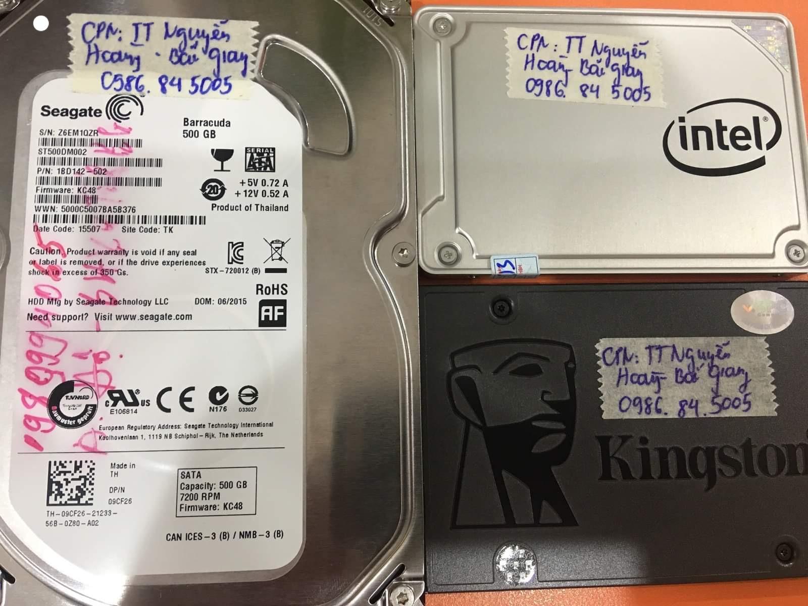 Cứu dữ liệu ổ cứng Seagate 500GB đầu đọc kém tại Bắc Giang 03/08/2020 - cuumaytinh