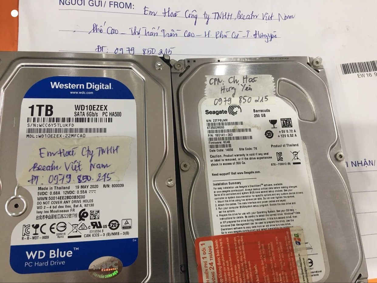 Khôi phục dữ liệu ổ cứng Seagate 250GB lỗi cơ tại Hưng Yên 10/08/2020 - cuumaytinh