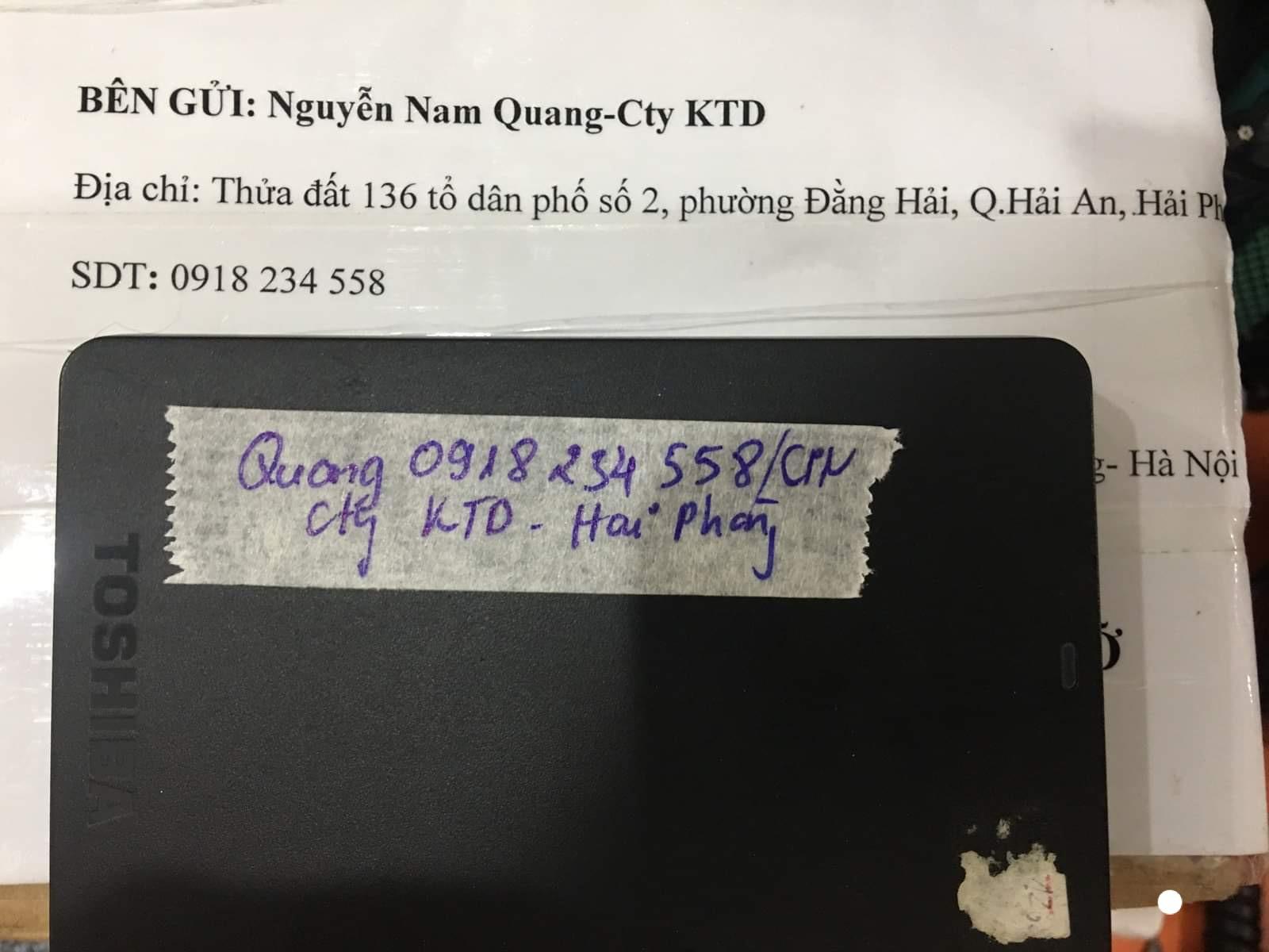 Phục hồi dữ liệu ổ cứng Toshiba 1TB bad tại Hải Phòng 10/08/2020 - cuumaytinh