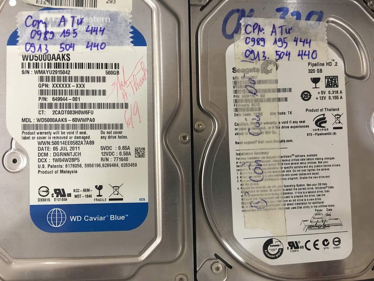 Khôi phục dữ liệu ổ cứng Seagate 320GB bad 10/09/2020 - cuumaytinh