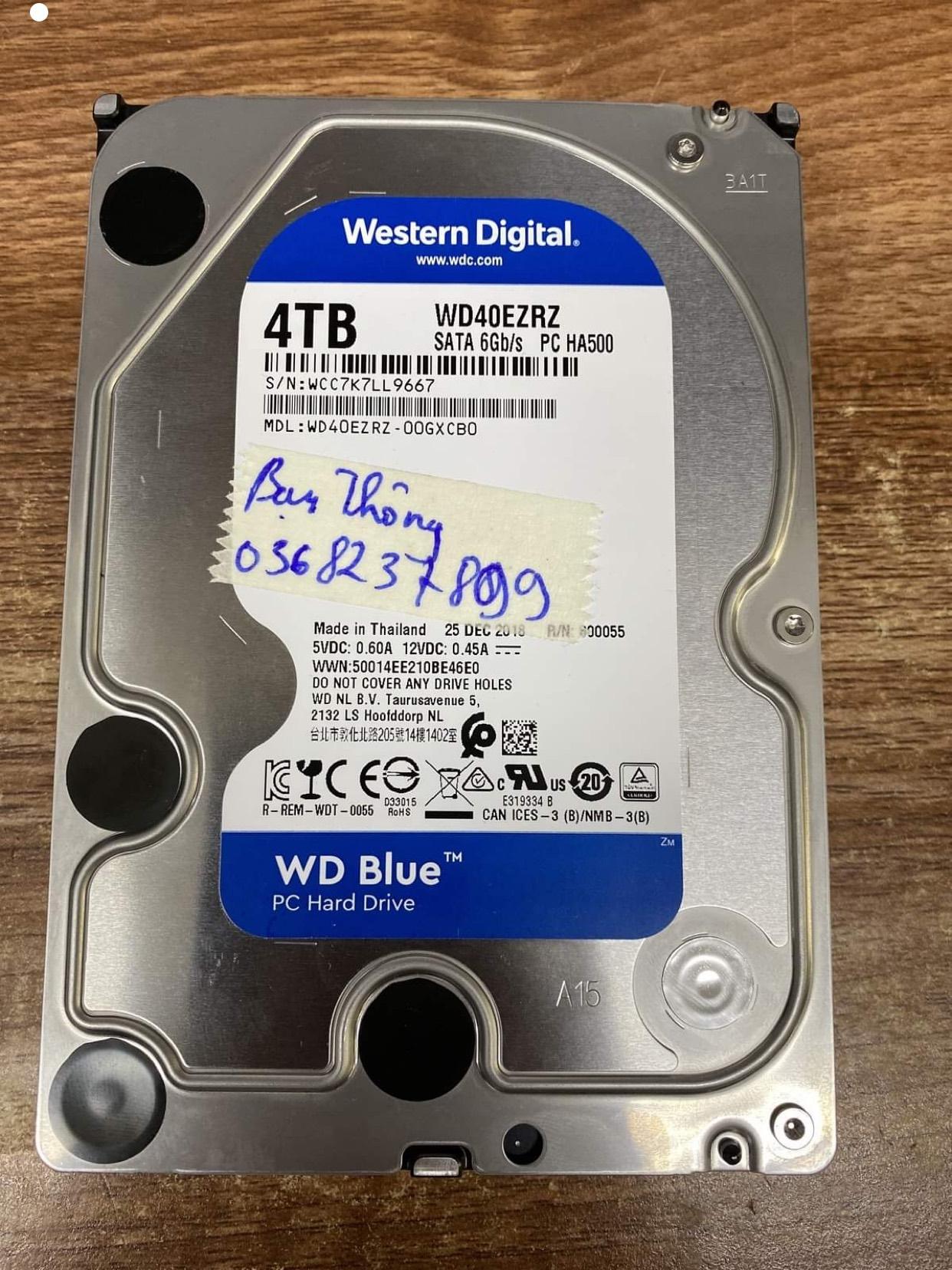 Lấy dữ liệu ổ cứng Western 4TB không nhận 23/09/2020 - cuumaytinh