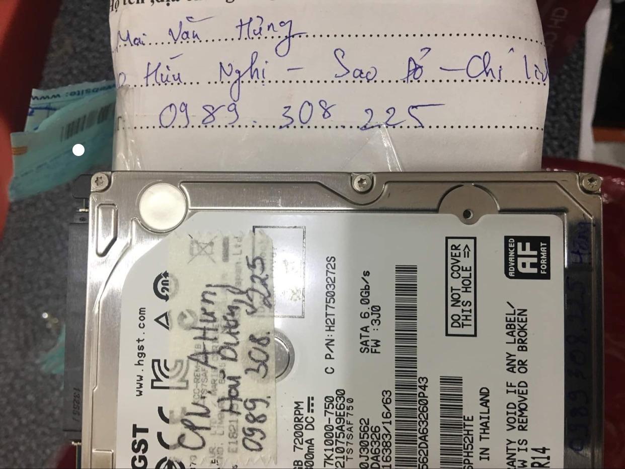 Phục hồi dữ liệu ổ cứng HGST 500GB lỗi cơ tại Hải Dương 23/10/2020 - cuumaytinh