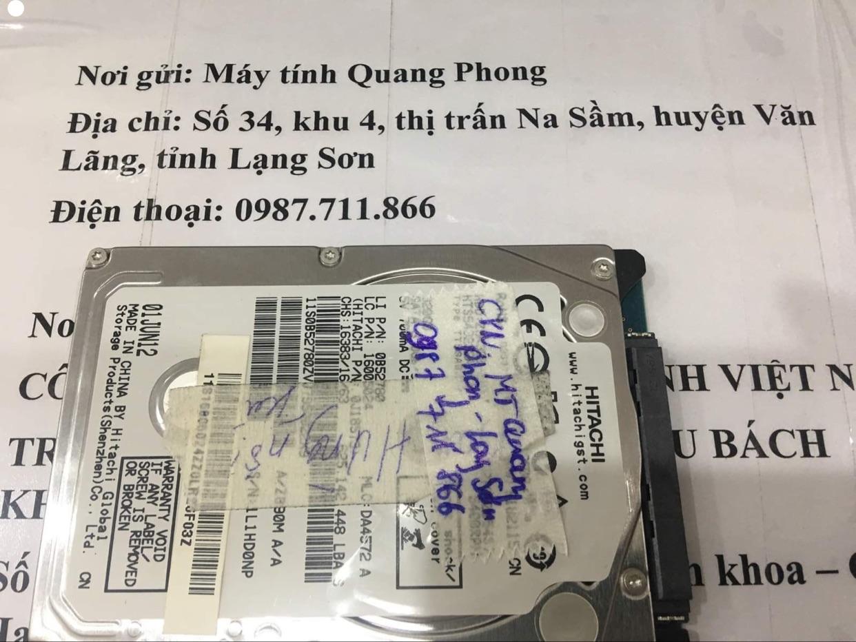 Phục hồi dữ liệu ổ cứng Hitachi 320GB không quay tại Lạng Sơn 01/10/2020 - cuumaytinh
