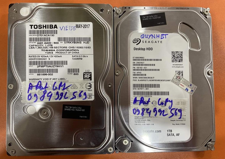 Khôi phục dữ liệu ổ cứng Western 2TB lỗi đầu đọc 09/11/2020 - cuumaytinh