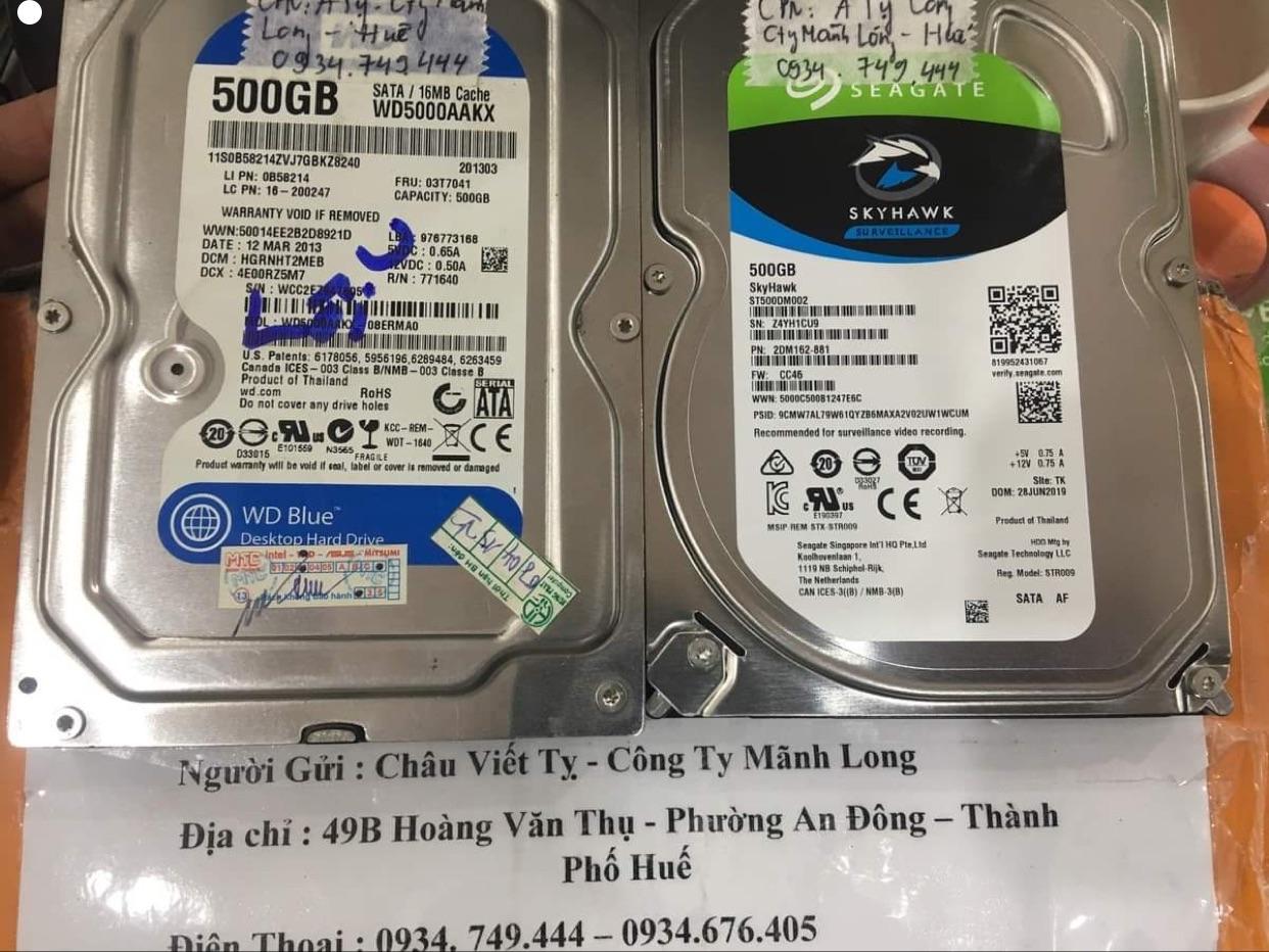 Khôi phục dữ liệu ổ cứng Western 500GB lỗi cơ tại Huế - 22/12/2020 - cuuumaytinh