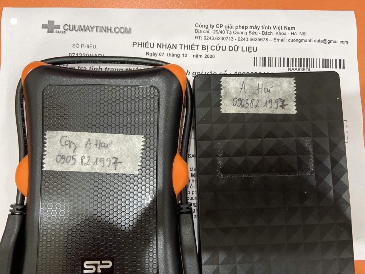 Lấy dữ liệu ổ cứng Seagate 1TB đầu đọc kém - 09/12/2020 - cuumaytinh