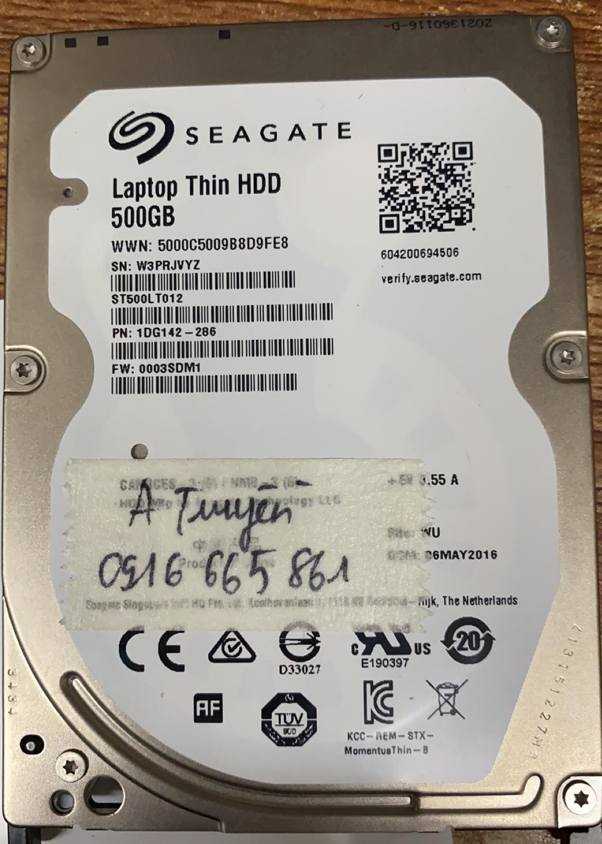 Lấy dữ liệu ổ cứng Seagate 500GB lỗi đầu đọc - 28/12/2020 - cuumaytinh