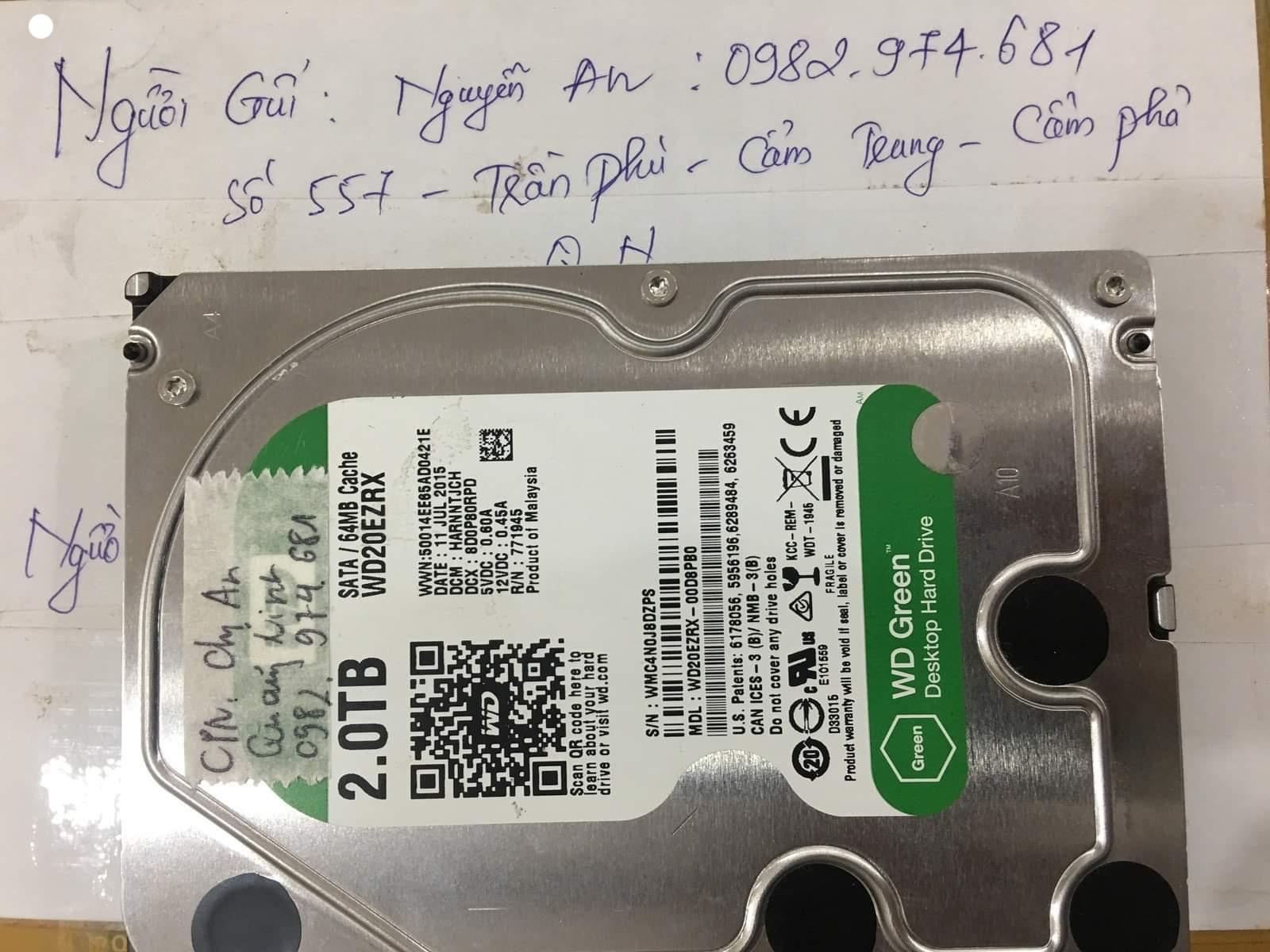 Lấy dữ liệu ổ cứng Western 2TB lỗi định dạng tại Quảng Ninh - 01/12/2020 - cuumaytinh