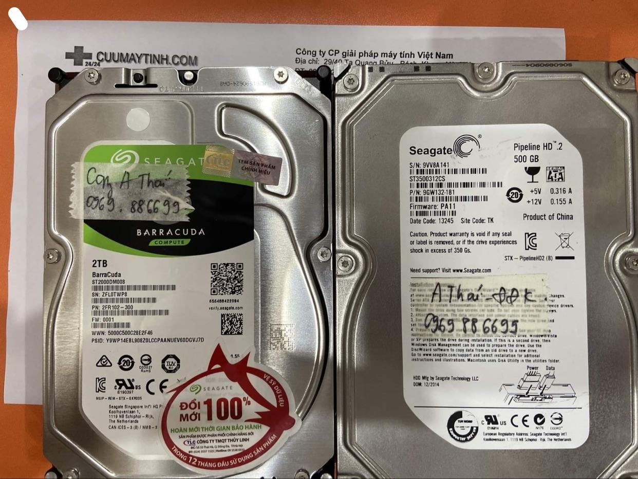 Phục hồi dữ liệu ổ cứng Seagate 500GB đầu đọc kém - 19/12/2020 - cuumaytinh