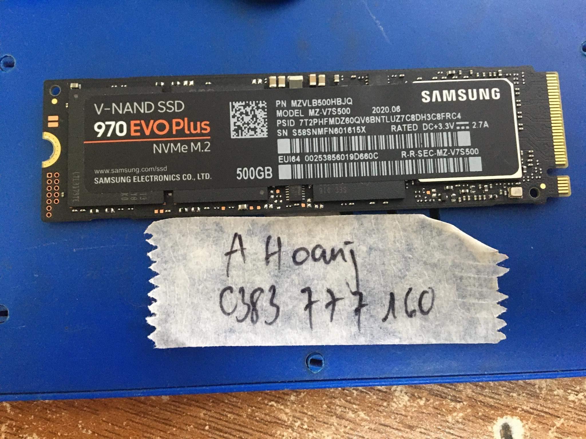 Lấy dữ liệu ổ cứng SSD Samsung 500GB format - 01/02/2021
