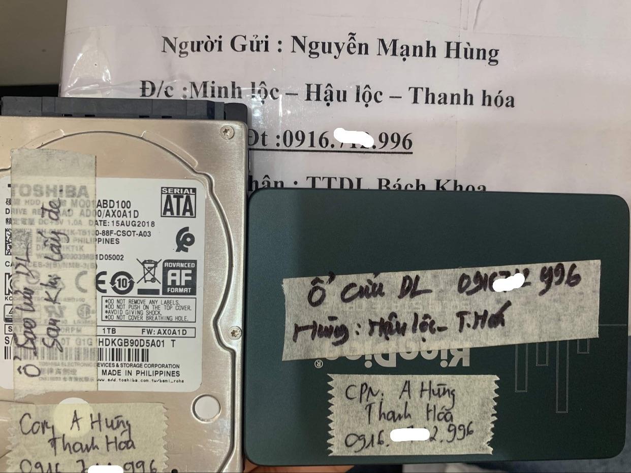 Cứu dữ liệu ổ cứng SSD Kingdiar 120GB lỗi chip tại Thanh Hóa - 13/05/2021