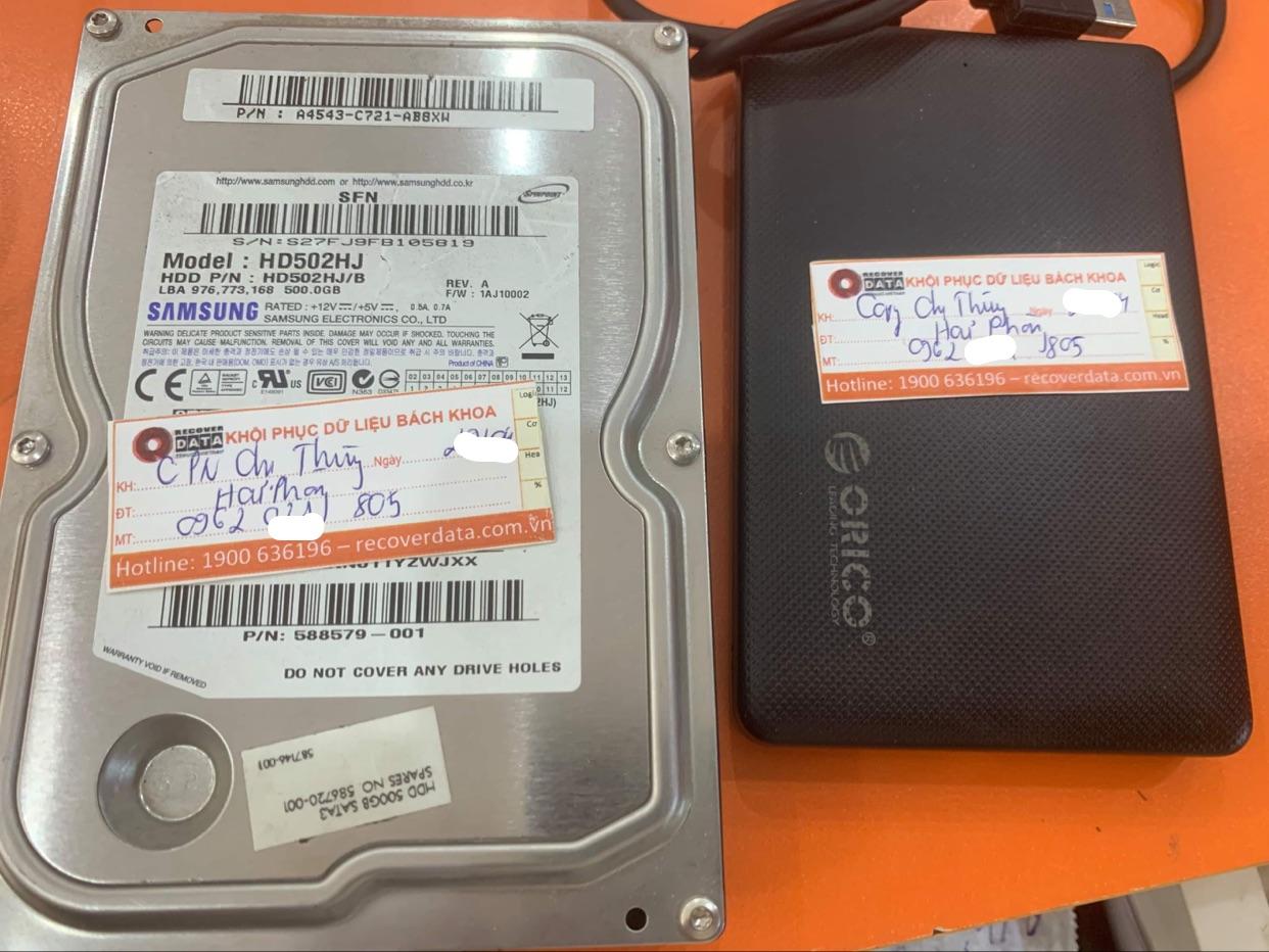 Khôi phục dữ liệu ổ cứng Samsung 500GB bad tại Hải Phòng - 08/05/2021